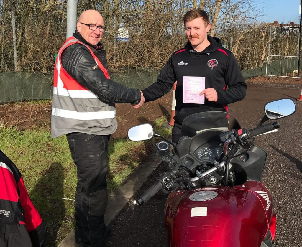 DAS Motorcycle Training Student Awarded Pass with Sedgemoor Motorcycle Training in Bridgwater
